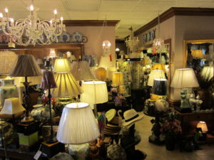 Huge inventory of Lamps, Shades, and home decor.